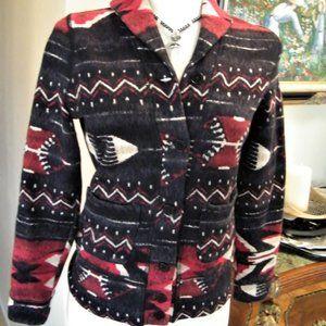 Ralph Lauren Aztec Southwest Print Jacket Shirt PS
